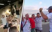 Nach Sieg über Schweden: England-Fans stürmen schwedisches Möbelhaus und feiern