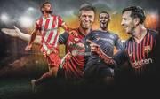 Stuani, Piatek, Hazard und Messi (v.l.): Unter Europas Top-Torjägern gibt es einige Überraschungen