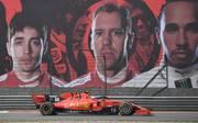 Charles Leclerc, Sebastian Vettel, Lewis Hamilton