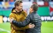 Julian Nagelsmann (l.) wird Trainer bei RB Leipzig, Ralf Rangnick (r.) bleibt Sportdirektor