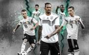 Kimmich, Khedira, Boateng, Rüdiger, Draxler (v.l.) - alle DFB-Stars sind in der Defensive gefragt