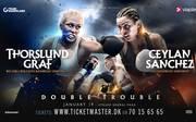 Dina Thorslund (links) verteidigt ihren WBO-Weltmeisterschaftstitel im Super-Bantamgewicht gegen Alesia Graf