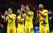 Club Atletico de Madrid v Borussia Dortmund - UEFA Champions League Group A: Axel Witsel, Omer Toprak, Achraf Hakimi und Thomas Delaney