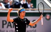Alexander Zverev steht nach dem Sieg gegen Fabio Fognini im Viertelfinale der French Open