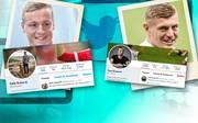 Felix Kroos (l.) hat Bruder Toni schon des Öfteren in den sozialen Medien einen witzigen Spruch gedrückt