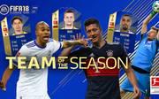 Das FIFA-Team der Saison der Bundesliga steht zur Wahl. Auf jeder Position können die Gamer aus drei Spielern wählen, die eine neue Karte mit besseren Werten in FIFA 18 kriegen. Doch wer hat Chancen auf den FIFA-Booost?