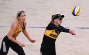 Beachvolleyball: Laura Ludwig/Margareta Kozuch scheitern in Gstaad, Margareta Kozuch (rechts) und Laura Ludwig spielen erst seit Kurzem zusammen