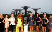 (williams als einzige den arm nicht an der hüfte) SPORT1 hat die besten Bilder vom Draw des WTA Finals