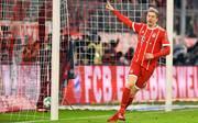 Robert Lewandowski jubelt für den FC Bayern München