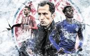 Bayern-Sportdirektor Hasan Salihamidzic (M.) konnte im Winter weder Lucas Hernandez (l.) noch Callum Hudson-Odoi loseisen