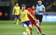 RB Leipzig-Profi Emil Forsberg leitete beim Sieg der Schweden gegen Rumänien beide Tore ein