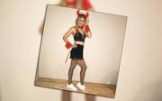 Genie Bouchard im Halloween-Outfit