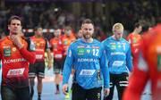 Frustriert nach dem Champions-League-Aus: Andy Schmid, Andreas Palicka, Mikael Appelgren (v.l.)