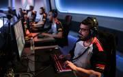 Das deutsche Team auf der Bühne des Overwatch World Cups 2018 in Paris