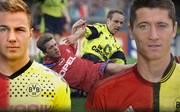 Mario Götze wechselte mittlerweile wieder zurück zum BVB, Robert Lewandowski nicht