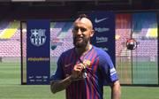 Arturo Vidal bei Vorstellung beim FC Barcelona: Barca größer als Bayern