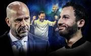 Schalke macht mit Trainer Domenico Tedesco (r.) derzeit einiges mehr richtig als Borussia Dortmund mit Trainer Peter Bosz