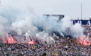 Bei der Partie zwischen  dem TSV 1860 München und dem 1. FC Saarbrücken zündelten die Fans auf beiden Seiten