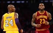 Kobe Bryant (l.) war beim Wechsel von LeBron James zu den Lakers ein entscheidender Faktor