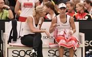 Barbara Rittner (l.) glaubt bei Olympia an Angelique Kerber