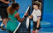 Serena Williams wies Eugenie Bouchard in die Schranken