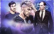 DAZN-Experte Jonas Hummels (l.) sagt Thomas Tuchel (r.) und Neymar ein heißes Spiel in Neapel voraus