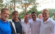 Arnold Schwarzenegger, Sylvester Stallone, Lothar Matthäus, Giovane Élber, Dolph Lundgren