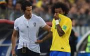 Marcelo musste beim 2:0-Sieg gegen Serbien mit Rückenproblemen ausgewechselt werden