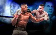 Anthony Joshua (l.) und Joseph Parker kämpfen um drei Weltmeister-Titel