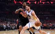 Klay Thompson (r.) zeigte gegen die Clippers eine hervorragende Vorstellung