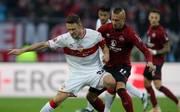 Chrisitan Gentner vom VfB Stuttgart gegen den 1. FC Nürnberg