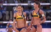 Laura Ludwig (l.) und Margerata Kozuch sind im Sechzehntelfinale der WM gescheitert