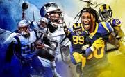 Super Bowl: Rams vs. Patriots - Brady, Gurley, Donald