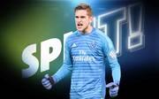 Julian Pollersbeck liegt mit dem Hamburger SV auf Aufstiegskurs