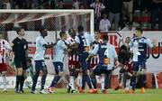 Tumulte beim Relegationsspiel um den Aufstieg in die Ligue 1