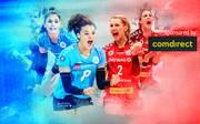 Der VC Wiesbaden und der Dresdner SC kämpfen um den Pokalsieg