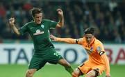 Max Kruse (l.) spielt seit 2016 bei Werder Bremen