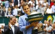 Roger Federer gewann das Turnier in halle bereits neun Mal
