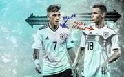 Max Meyer (l.) wechselt zu Crystal Palace - Joshua Kimmich (r.) spielt dagegen weiter beim FC Bayern
