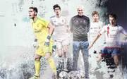 Zinedine Zidane (M.) hat vier fußballbegeisterte Söhne