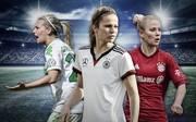 Stars der Frauen-Bundesliga: Lena Gößling, Melanie Leupolz, Leonie Maier