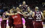Der FC Bayern Basketball feiert in der EuroLeague einen Sieg in letzter Sekunde