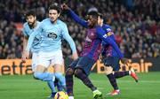FC Barcelona v RC Celta de Vigo - La Liga Ousmane Dembele kommt sportlich beim FC Barcelona immer besserin Fahrt. Gegen Vigo war er bereits zum siebten Mal in der Liga erfolgreich