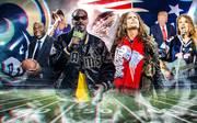 Den Patriots und Rams drücken zahlreiche Prominente die Daumen