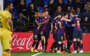 Luis Suarez erzielte kurz vor Schluss das 4:4 für den FC Barcelona