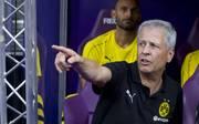 Lucien Favre saß im Test bei Austria Wien erstmals auf der Trainerbank von Borussia Dortmund