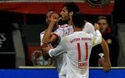 Javi Martinez wies beim Spiel in Leverkusen in Januar mit seinem Jubel bereits auf die bevorstehende Geburt hin
