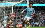 Leroy Sane nach seinem Führungstor für Manchester City
