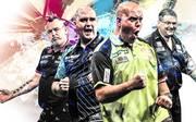 Peter Wright, Rob Cross, Michael van Gerwen und Gary Anderson sind die größten Stars der Darts-WM 2019