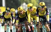 Das Team Jumbo-Visma um Tony Martin gewann das Mannschaftszeitfahren bei der Tour de France